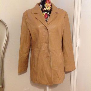 Adler Collection vintage lamb skin leather jacket